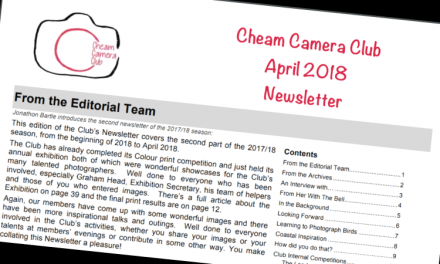 Newsletter – April 2018