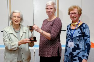 Jane McGuire receives an award