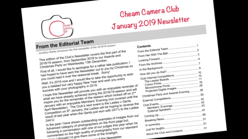 Newsletter – January 2019